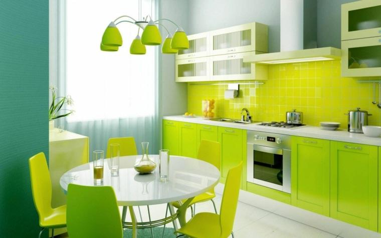 muebles para la cocina verde