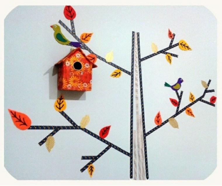 ninos decoracion otoño pared