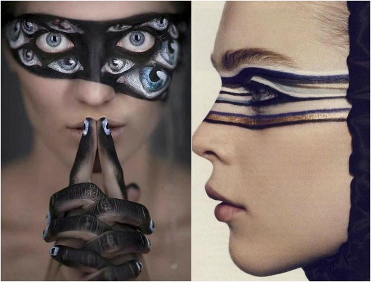 ojos variedad muestras imagenes maquyillaje