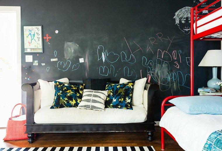 pared pizarra habitación infantil