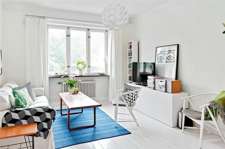 original sala alfombra azul