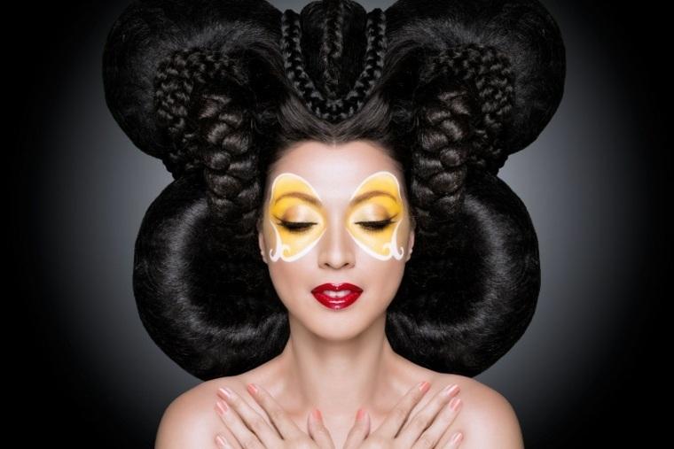 original disfraz y maquillaje geisha