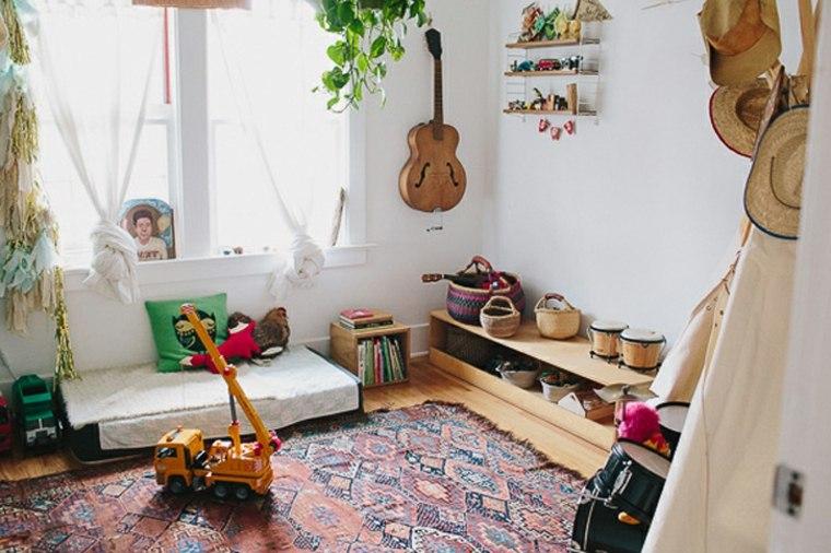 Dormitorios para ni os de estilo boho chic 24 ideas nicos - Dormitorio infantil original ...