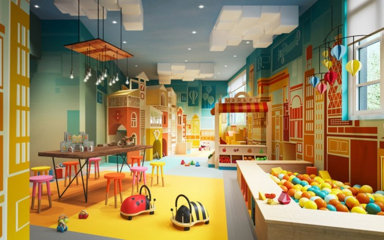 original diseno sala juegos infantil