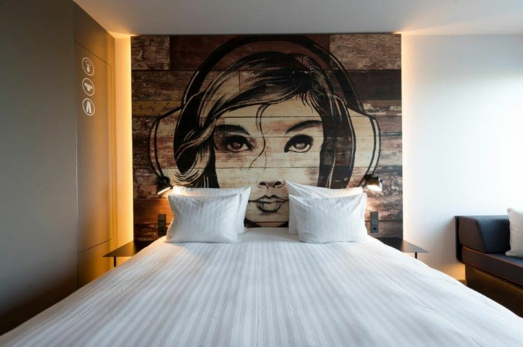 original habitacion cabecero mural modernp