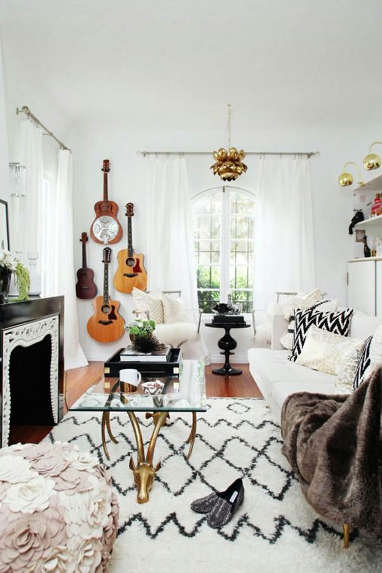 original diseño sala estar guitarras