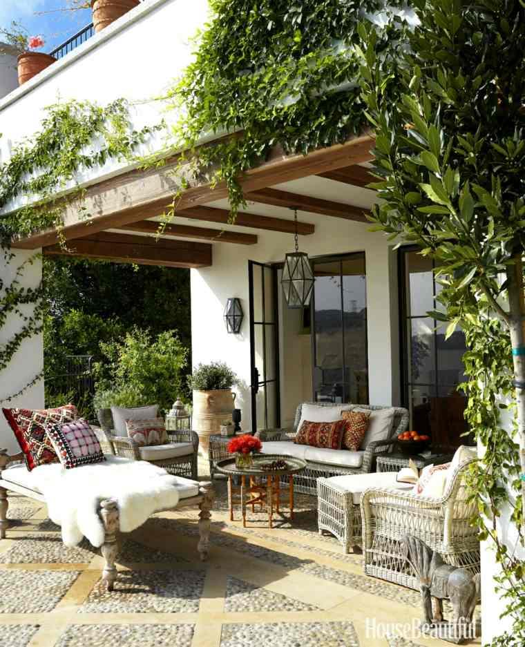 original decoración terraza muebles mimbre