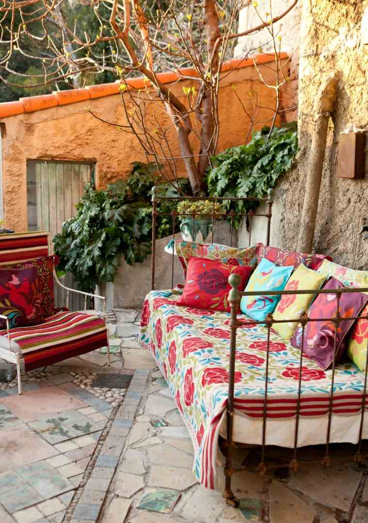 original terraza decoración boho