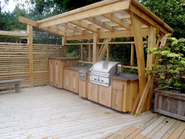 original cocina pergola madera