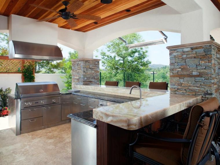 Cocinas Para Jardin Of Barbacoas Y Muebles De Cocina Para El Jard N 34 Ideas