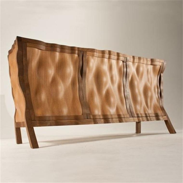 original duseño comoda madera arrugada