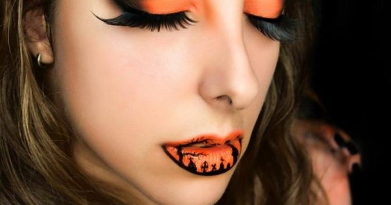 original maquillaje tonos naranja