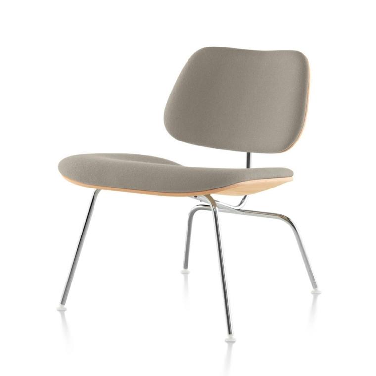 original silla acolchado gris