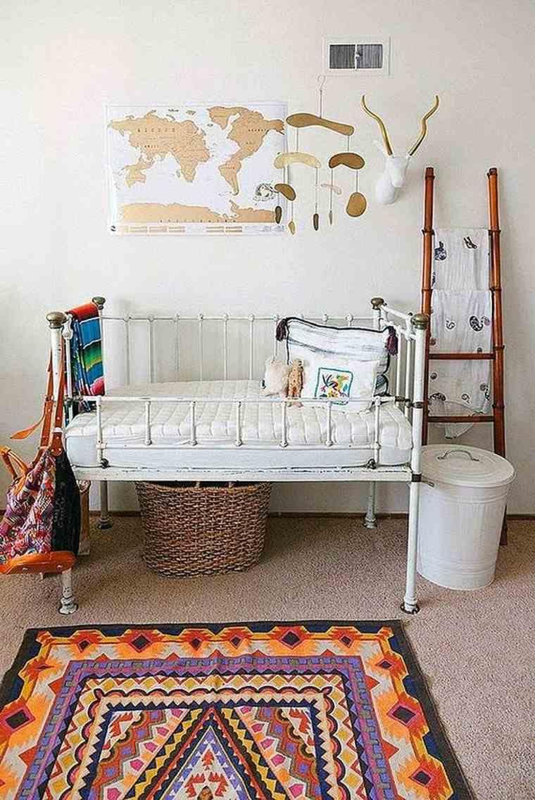 habitación bebé boho chic
