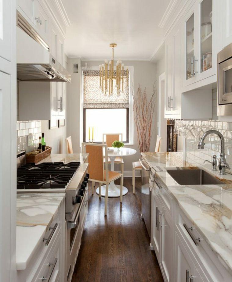 originales encimeras cocina moderna mármol