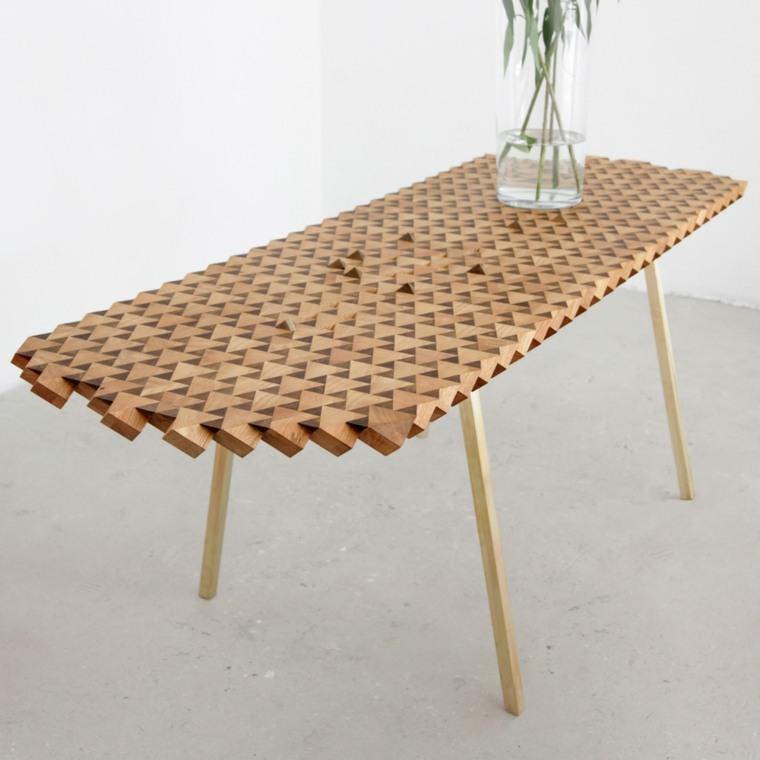 Muebles de madera modernos ideas para cada habitaci n - Mesas madera diseno ...
