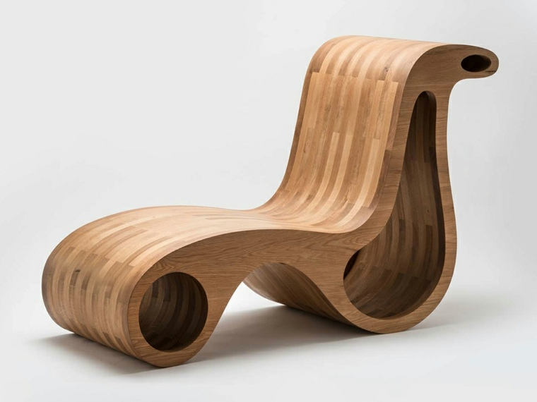 original sillon rigido madera