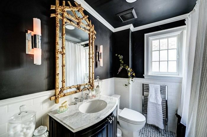 Baños Estilo Tradicional:Color negro diseño elegante para baños modernos y tradicionales