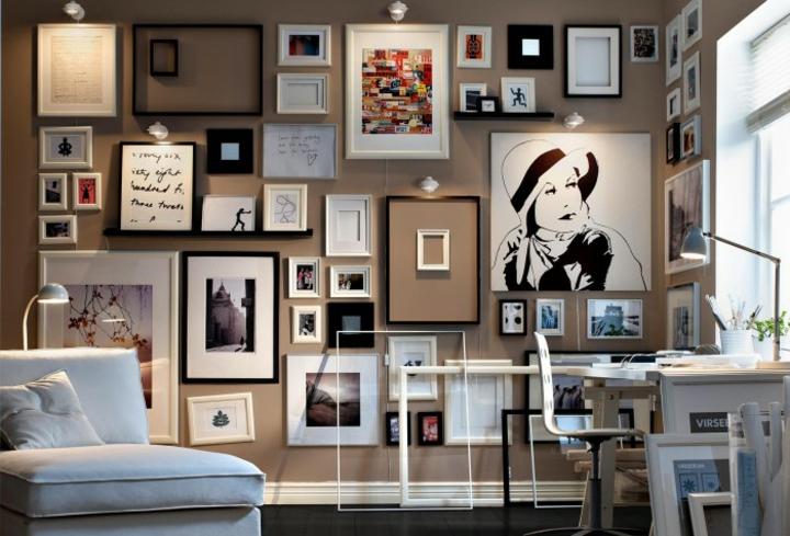 paredes decoracion elegantes estantes blanco