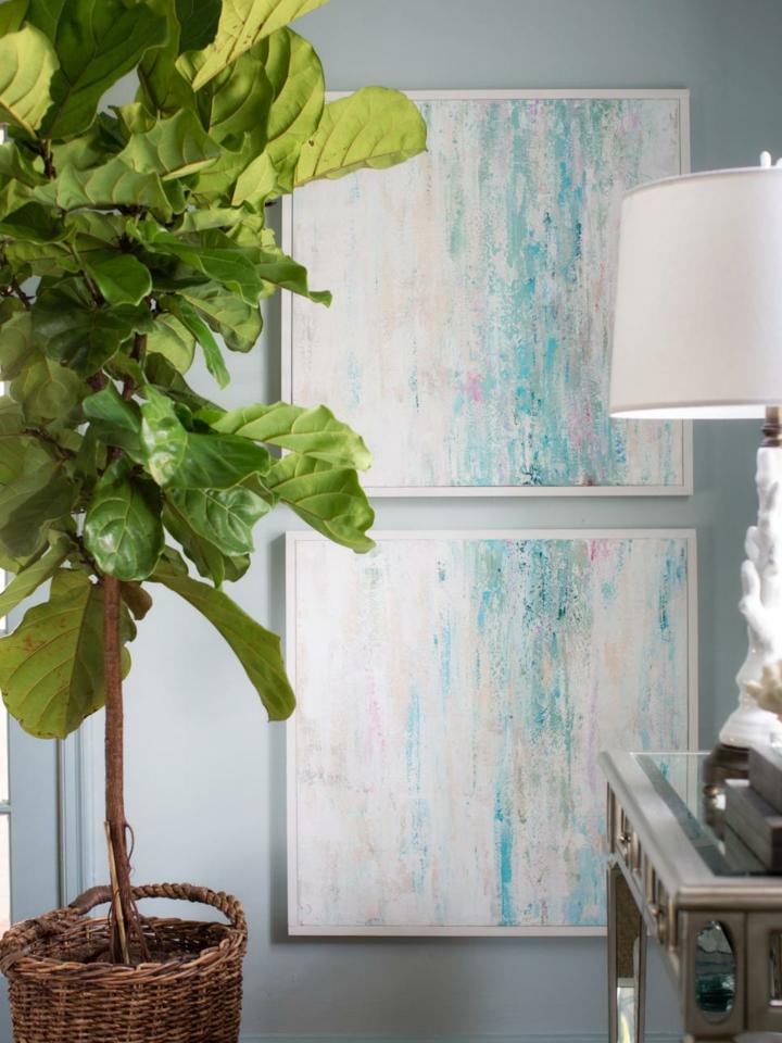 paredes decoracion plantas vida lamparas