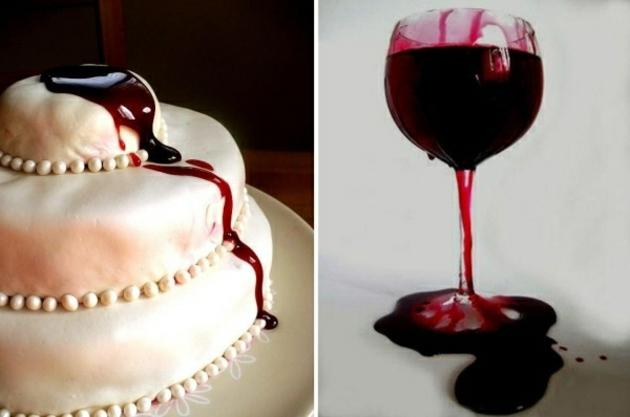 pastel copa sangre artificia sangre