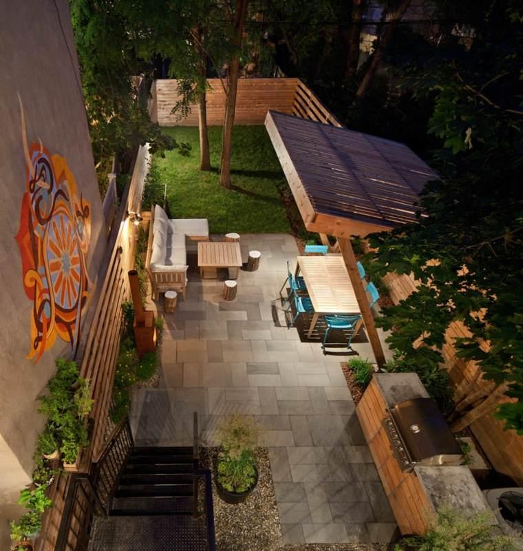 patio diseño aspectos espaciosos colores