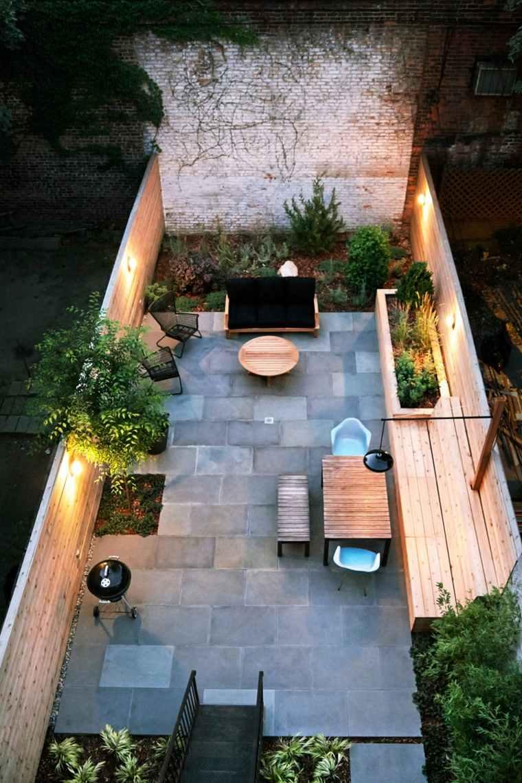 patio diseño distribucion formas muros