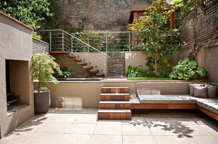 patio diseño formas especiales lineas