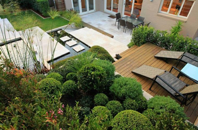 patio diseño soleadoras estilos muebles