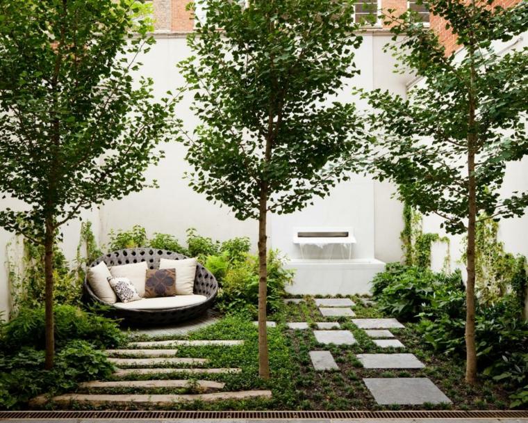 patio diseño paisaje moderno