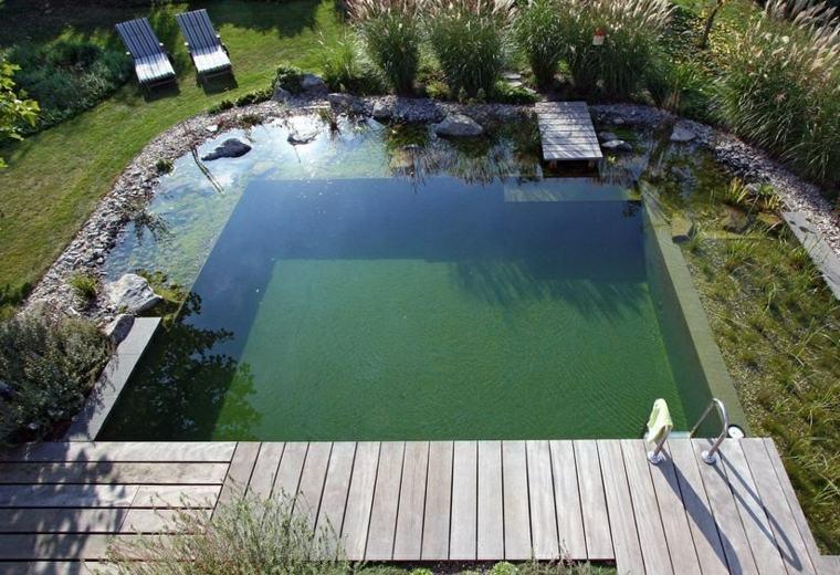 peqeuna piscina estilos colores muelles