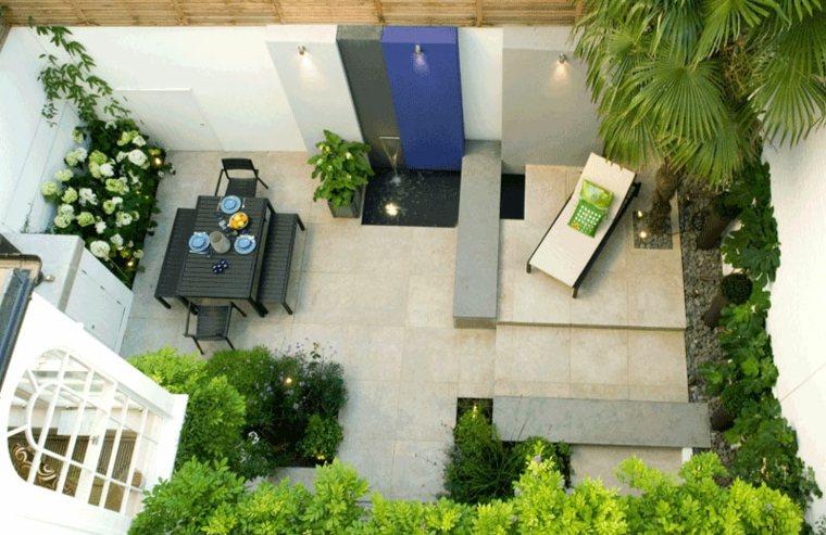 pequeno patio estilos salas verdes