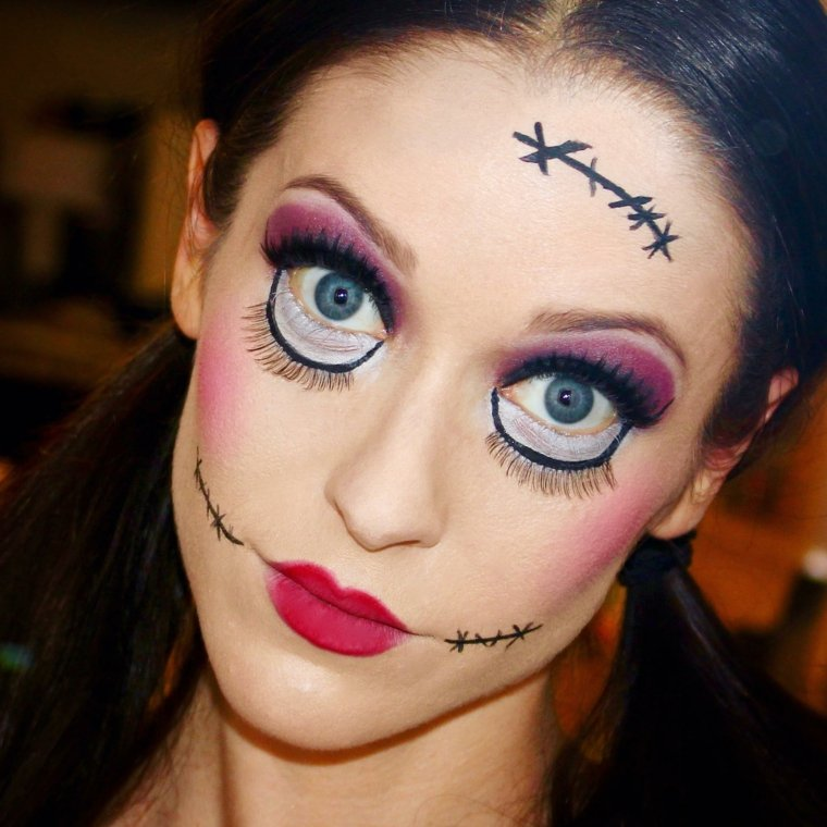 pintura de cara para halloween