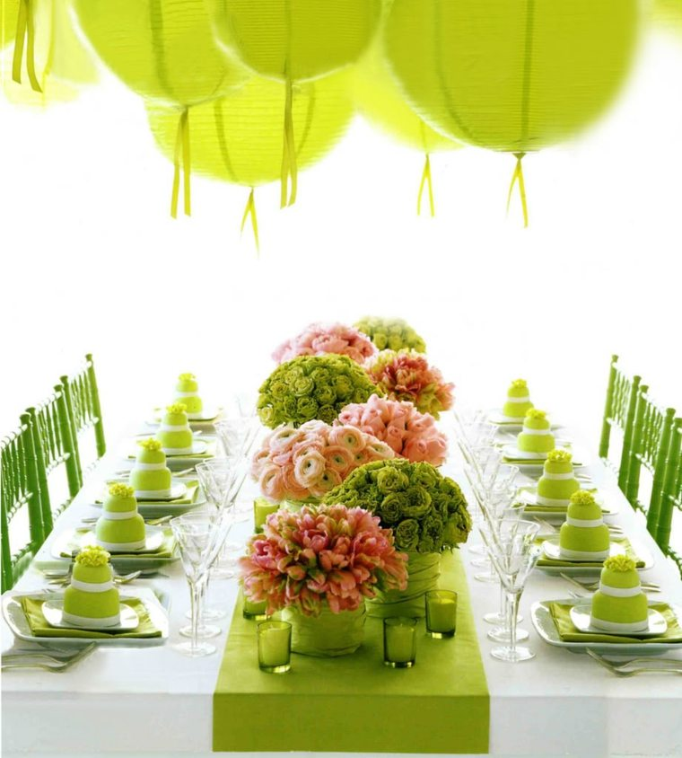 poner la mesa flores