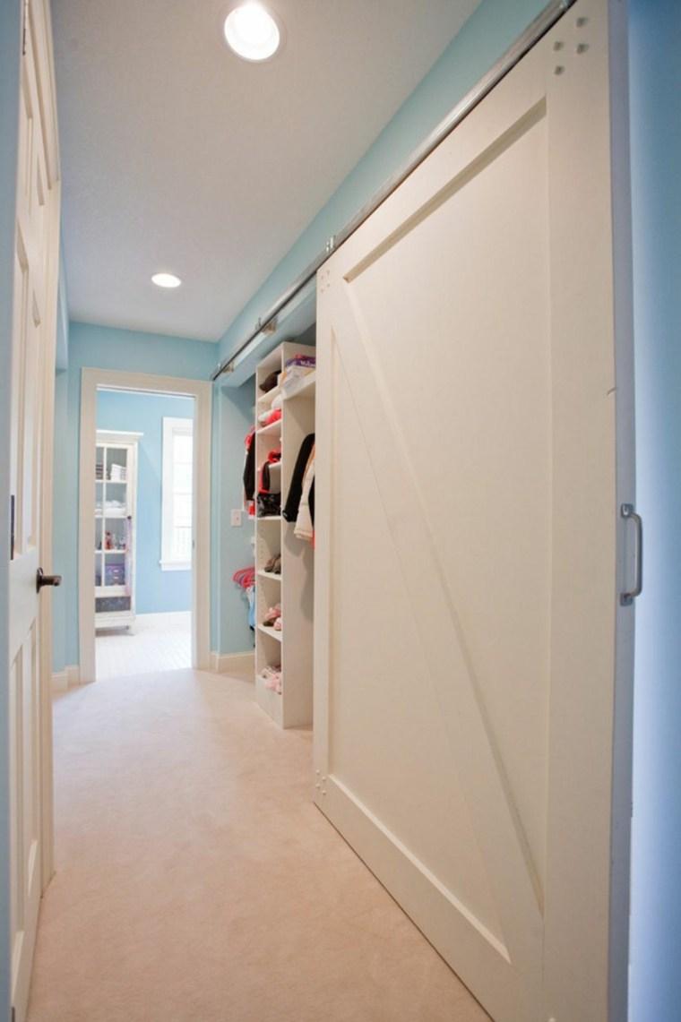 puerta corredera madera diseno armario ideas