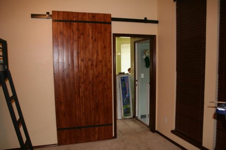 puerta corredera madera diseno brillante ideas