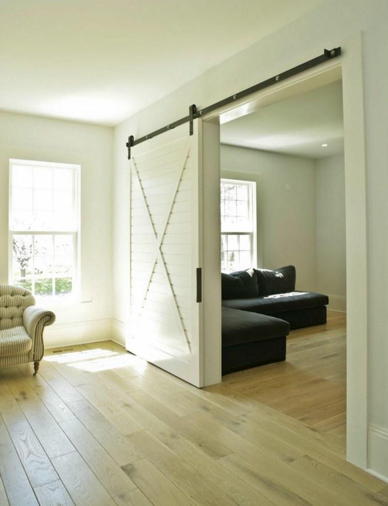 puerta corredera madera diseno color blanco ideas