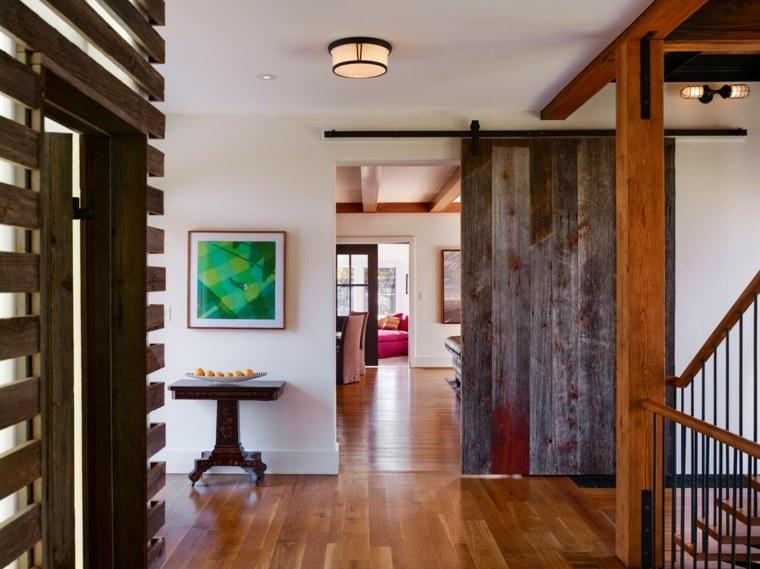puertas correderas madera diseno interiores opciones ideas