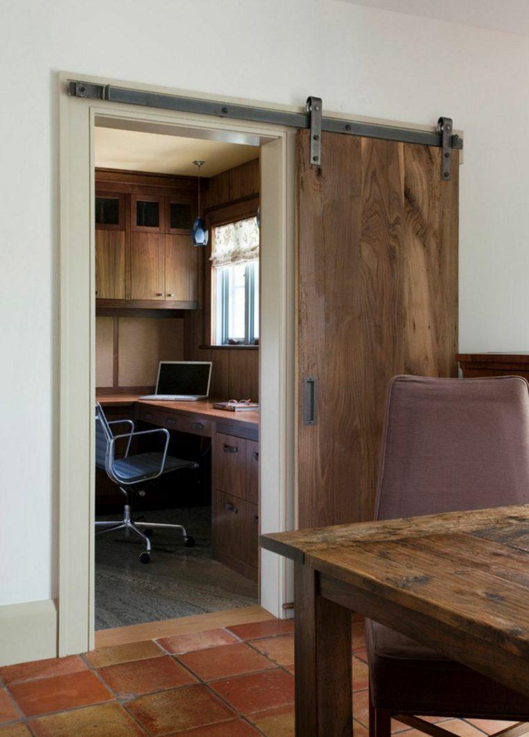 puerta corredera madera diseno madera laminas ideas