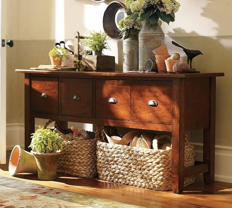 recibidores modernos y baratos madera