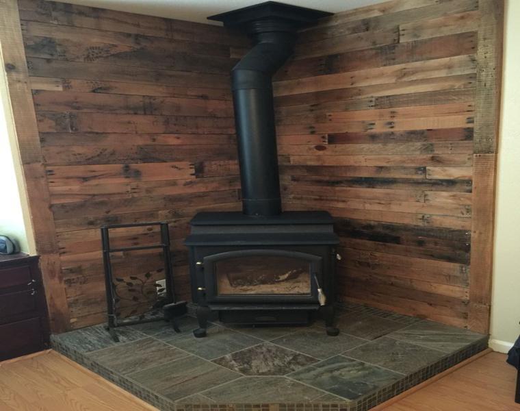 rincón rústico paredes madera