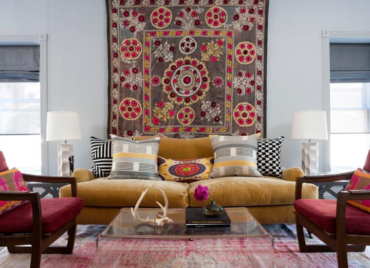 sala estar tapiz colores