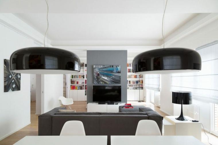 salon moderno toques gris Teresa Paratore ideas