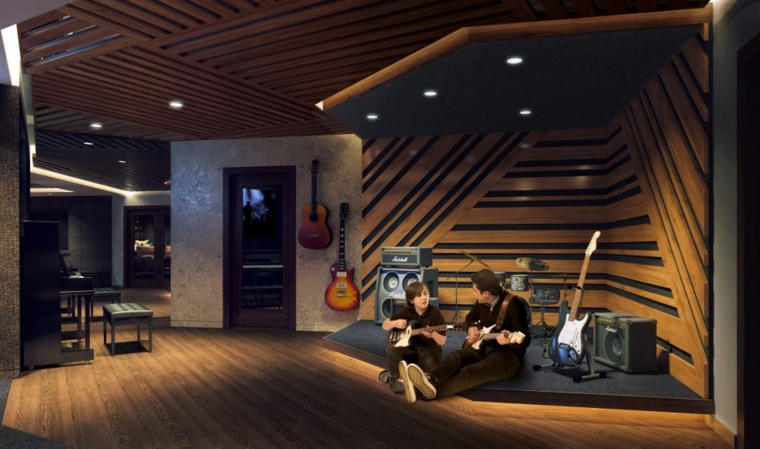 salon moderno esudio música