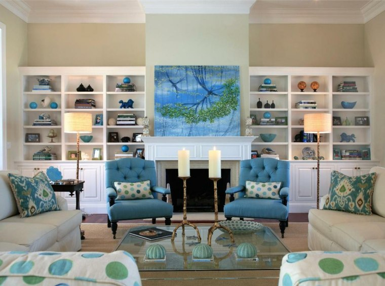 salones clasicos azul