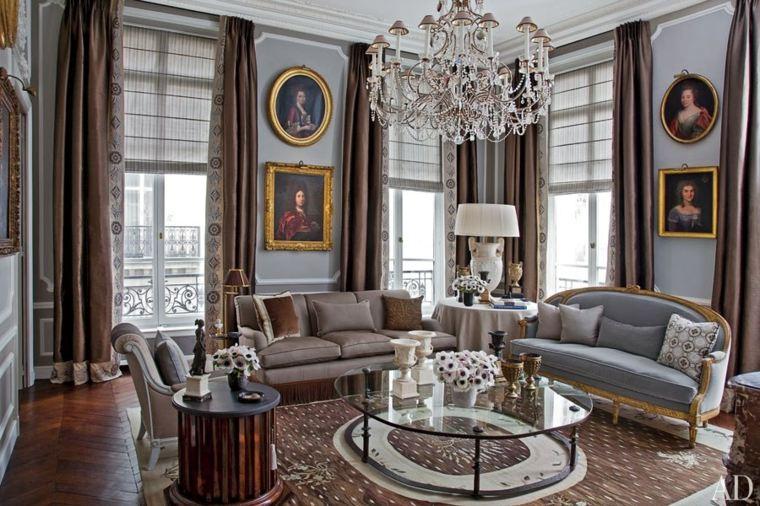 salones clásicos cortinas