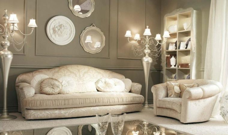 Salones cl sicos ideas para su decoraci n for Decoracion salones 2016