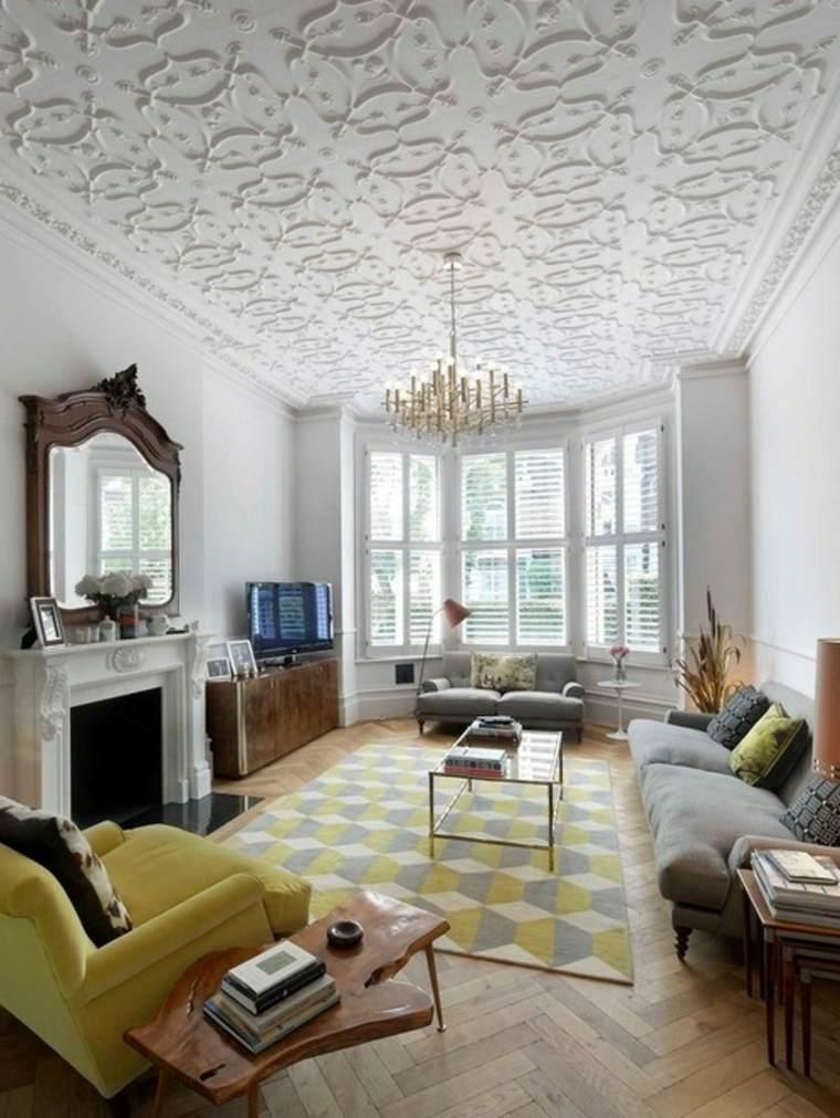 salones clásicos elementos modernos