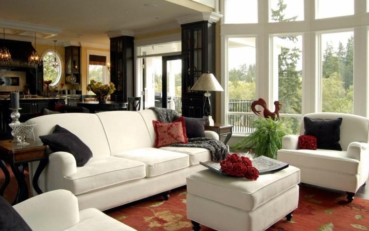 salones clásicos muebles blancos