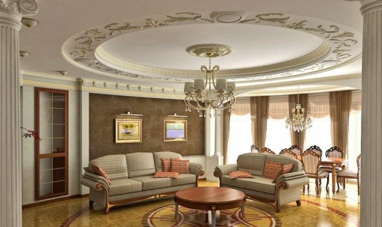 salones clasicos techo decorado